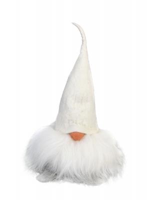 Tomte Verner mit weißer Mütze
