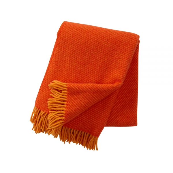 Designerdecke Linus in Orange