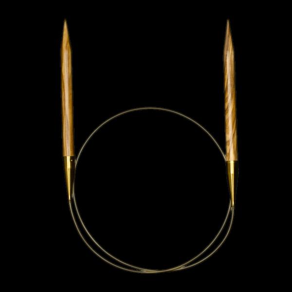 Circular Knitting Needles Olive Wood 6,0