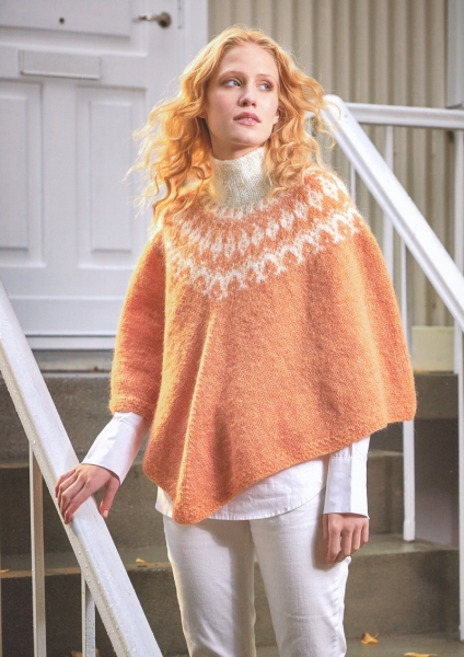 Strickpaket Plattenwolle Poncho Nr. 7a / 39
