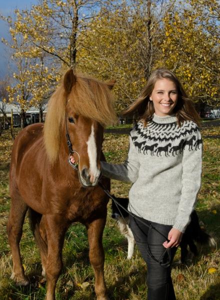 Islandpullover Lettlopi Nr. 2201 Pferdemotiv Herrenpullover