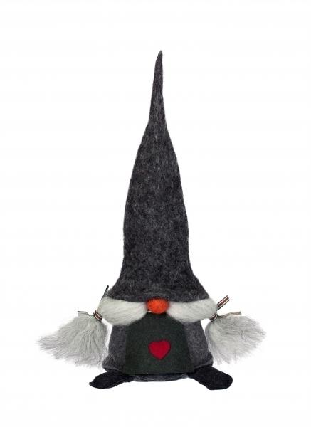 Tomte Vilma mit grauer Mütze